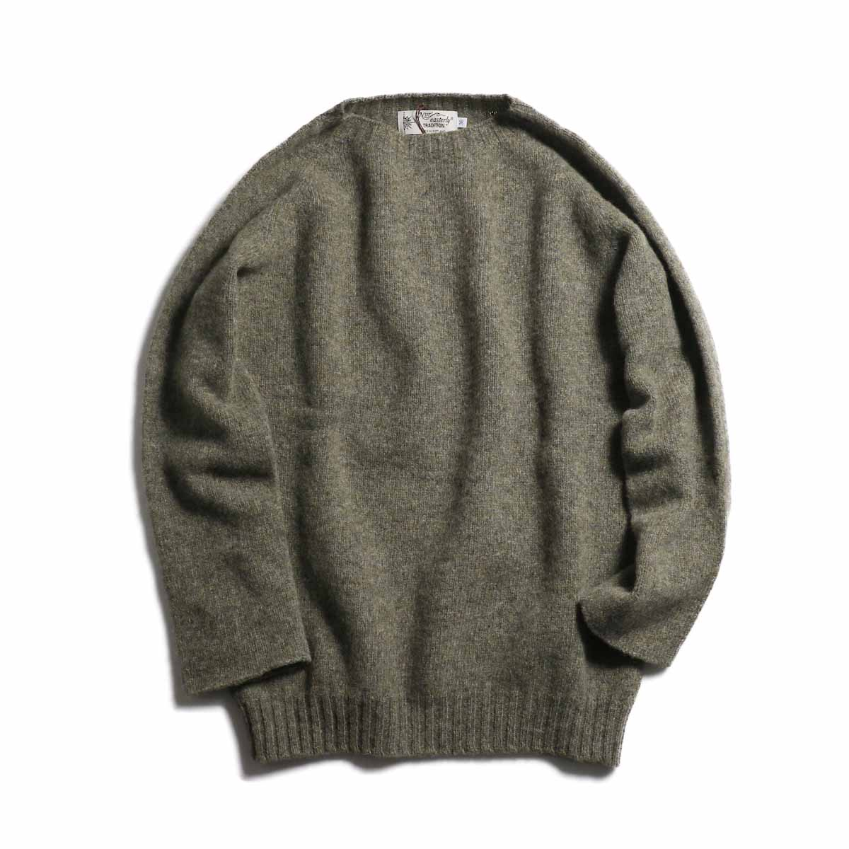 NOR'EASTERLY / L/S Crew Neck Knit -LT BROWN