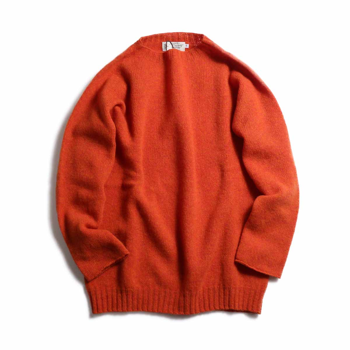 NOR'EASTERLY / L/S Crew Neck Knit -ORANGE