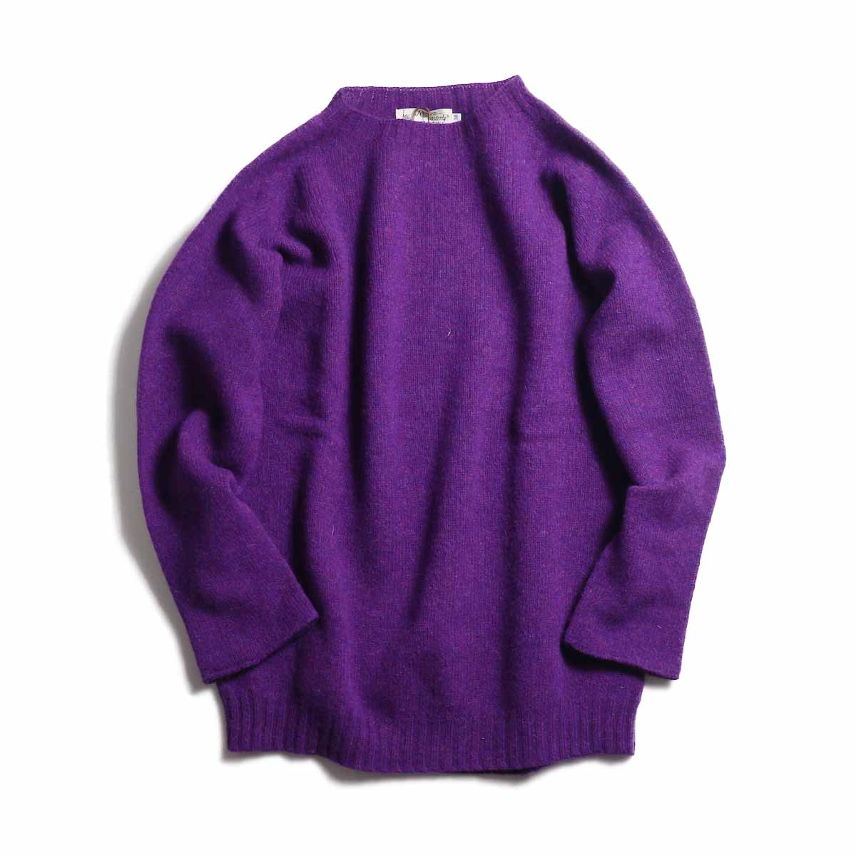 NOR'EASTERLY / L/S Crew Neck Knit -PURPLE