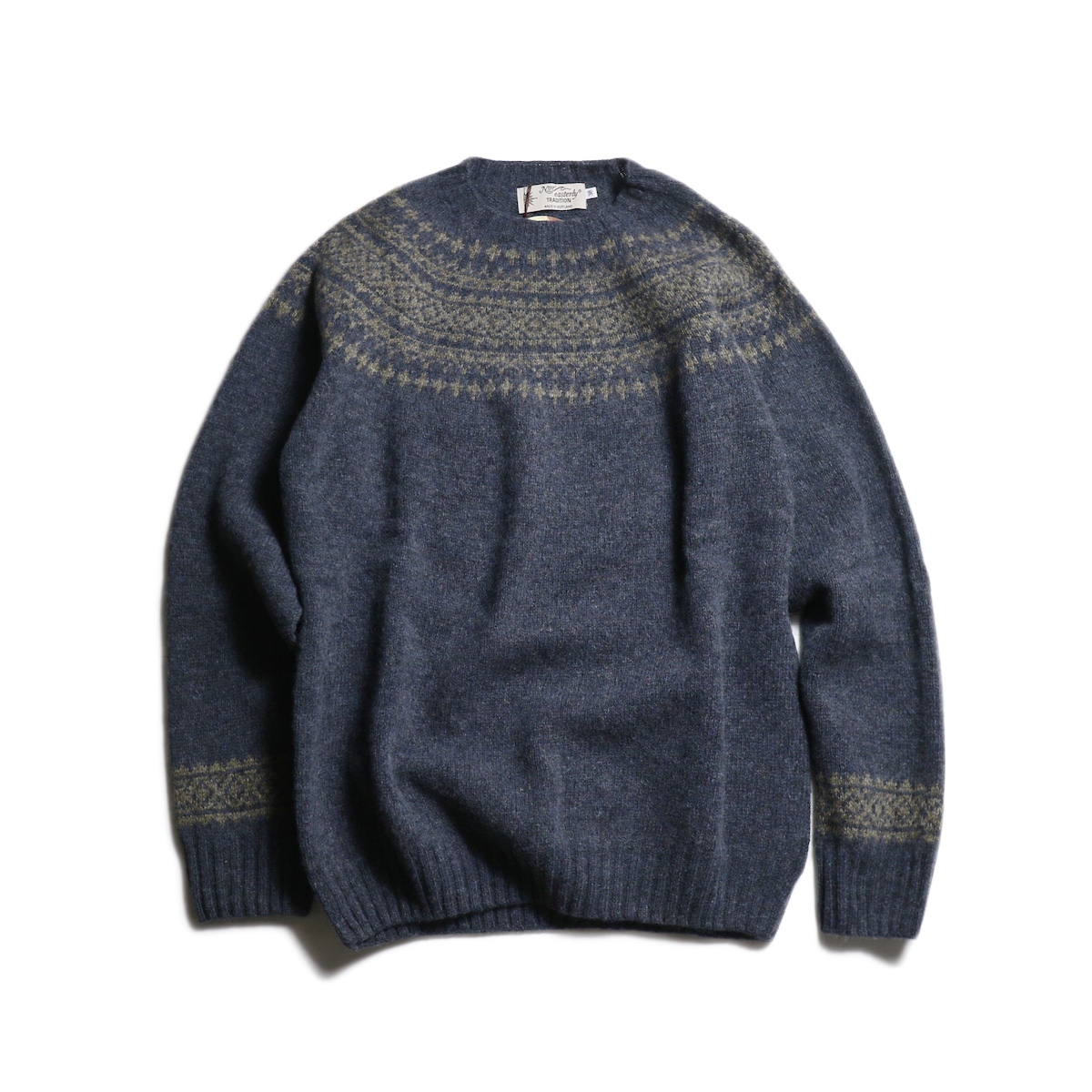NOR'EASTERLY / L/S WIDE NECK 2TONE NORDIC (Moon Shadow×Oyster)