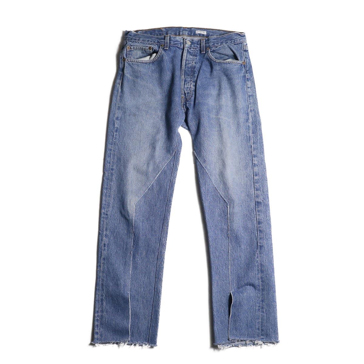 OLD PARK / Slit Jeans (Blue) (Lsize)