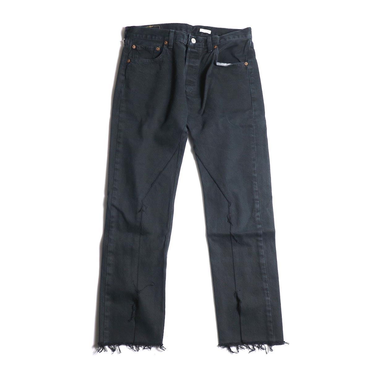 OLD PARK / Slit Jeans (Black) (Msize-B)