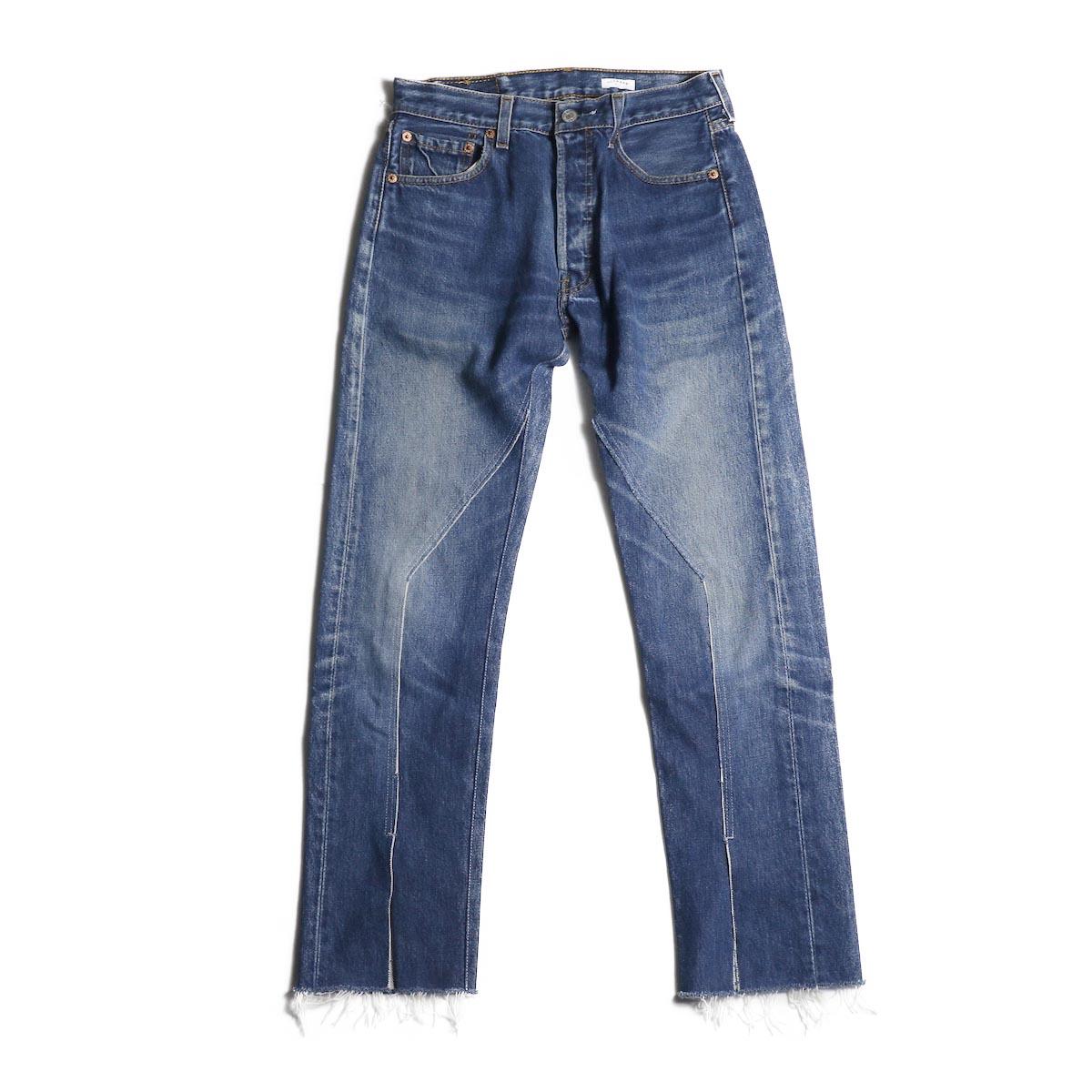 OLD PARK / Slit Jeans (Blue) (Ssize-A)