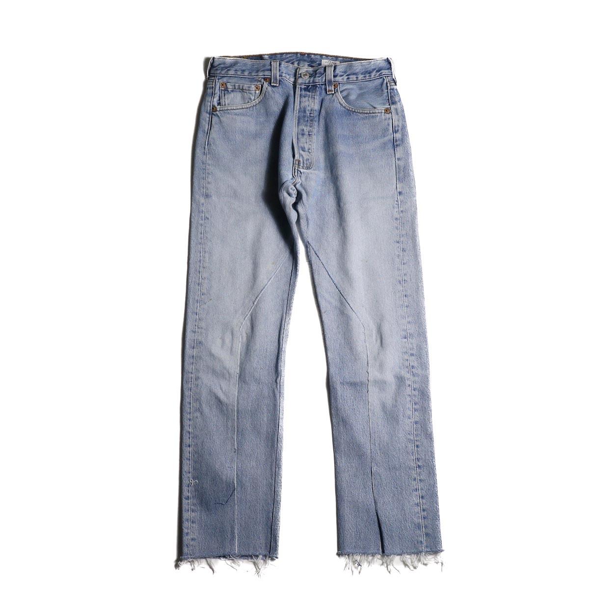 OLD PARK / Slit Jeans (Blue) (Ssize-B)