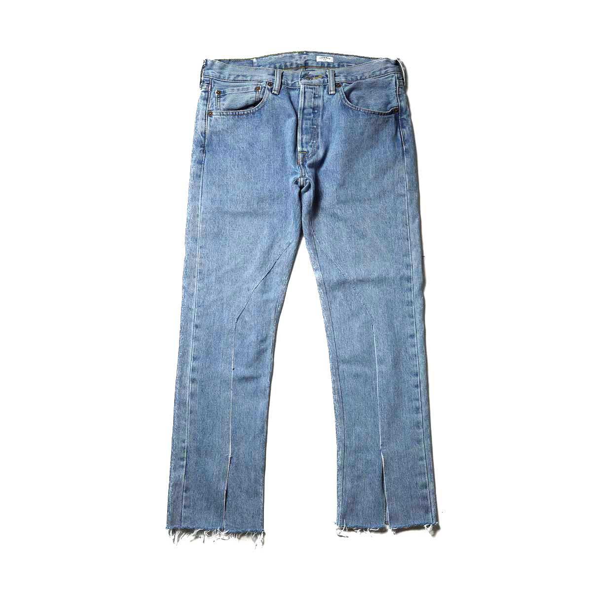 OLD PARK / Slit Jeans (Blue) Msize-A