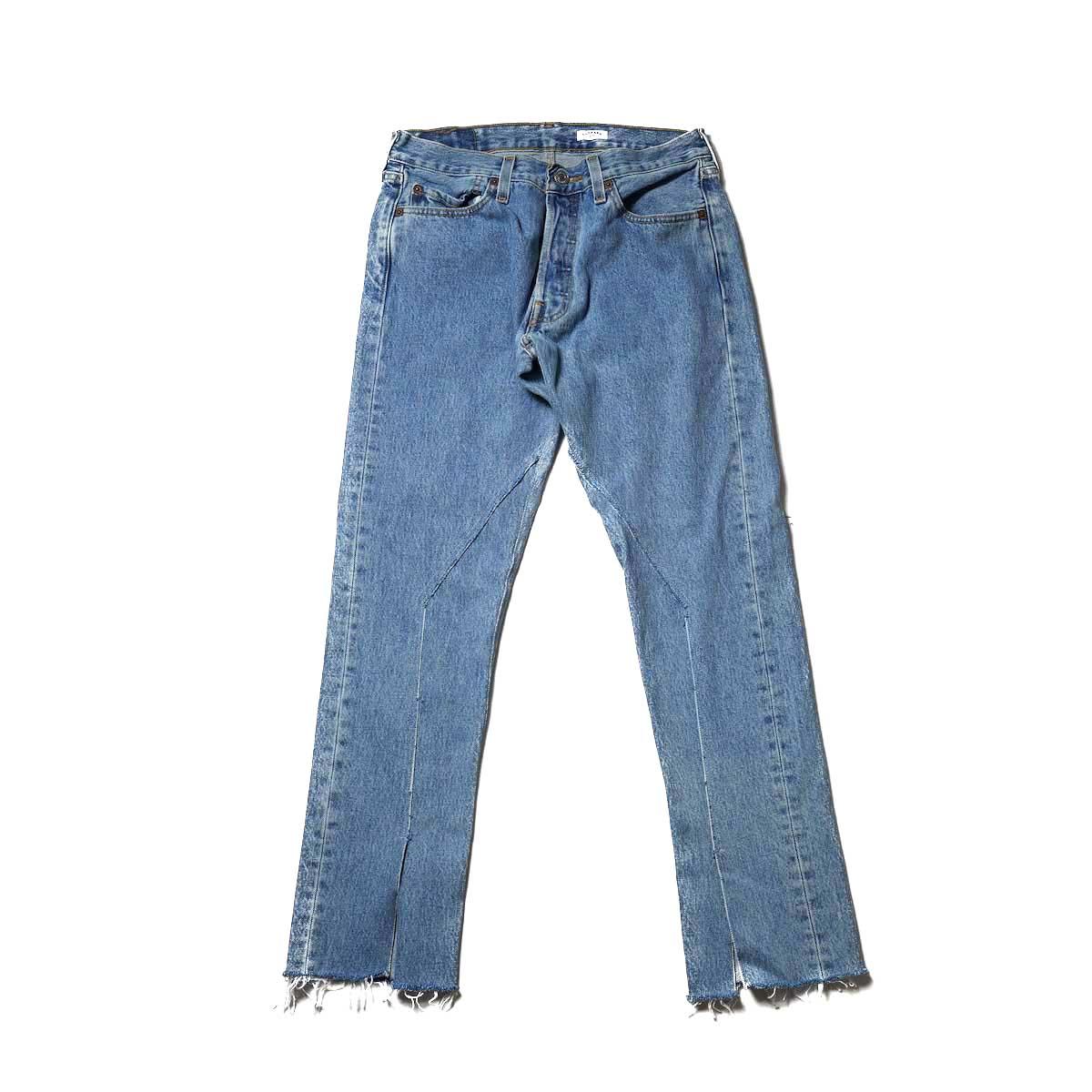 OLD PARK / Slit Jeans (Blue) Ssize-B