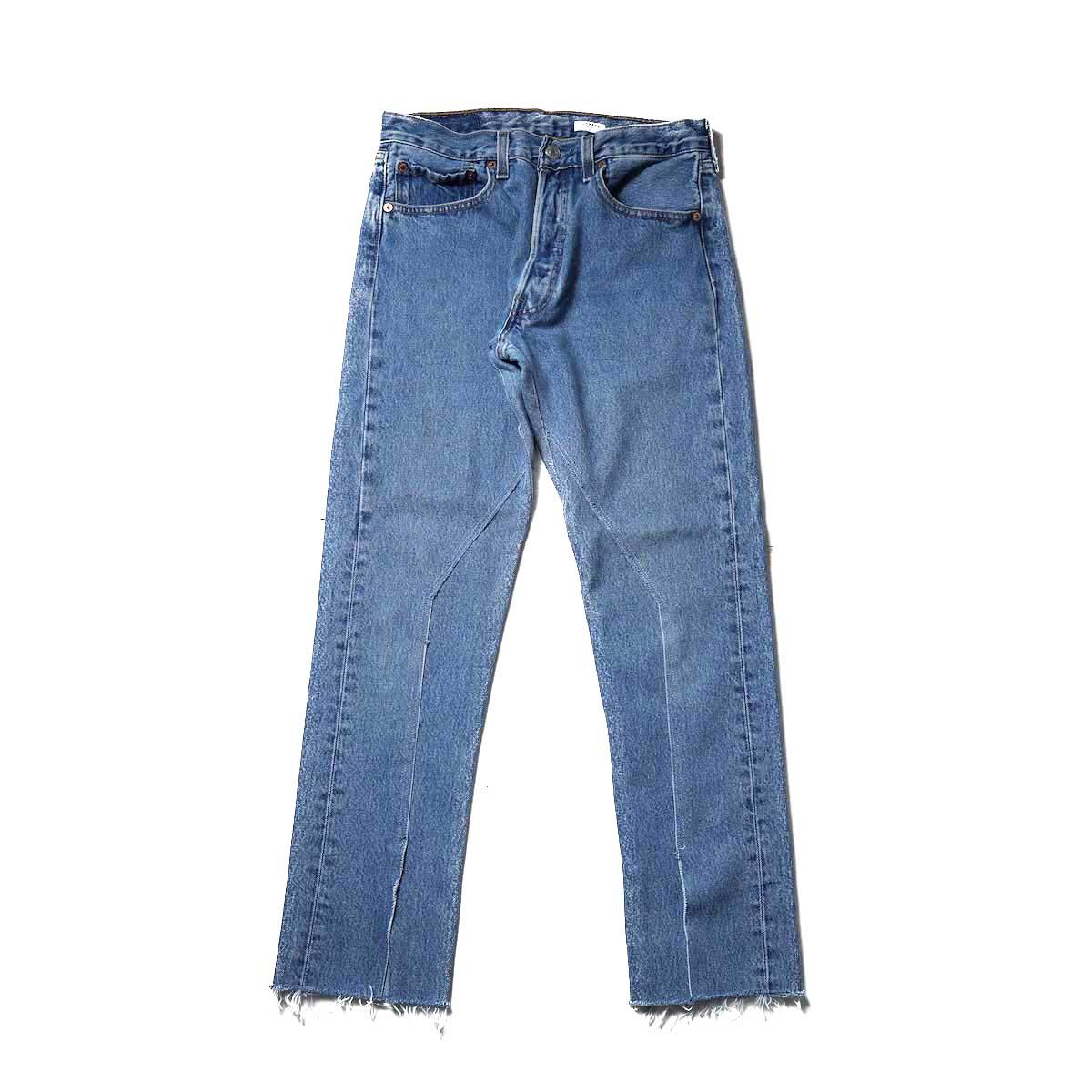 OLD PARK / Slit Jeans (Blue) Ssize-C