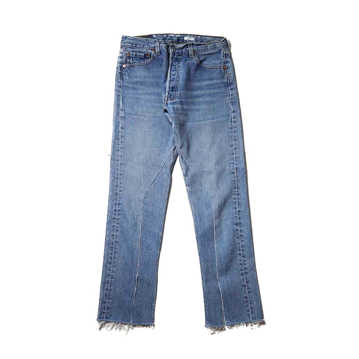 OLD PARK / Slit Jeans (Blue) Ssize-D