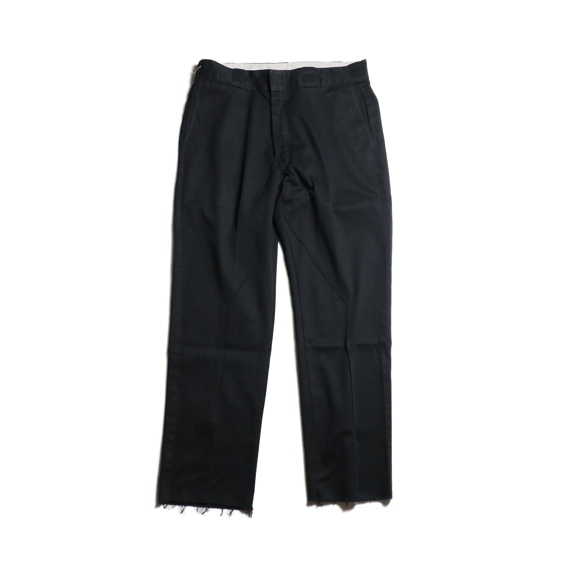 "OLD PARK / Slit Pants ""Dickies"" -Black (Lsize)"