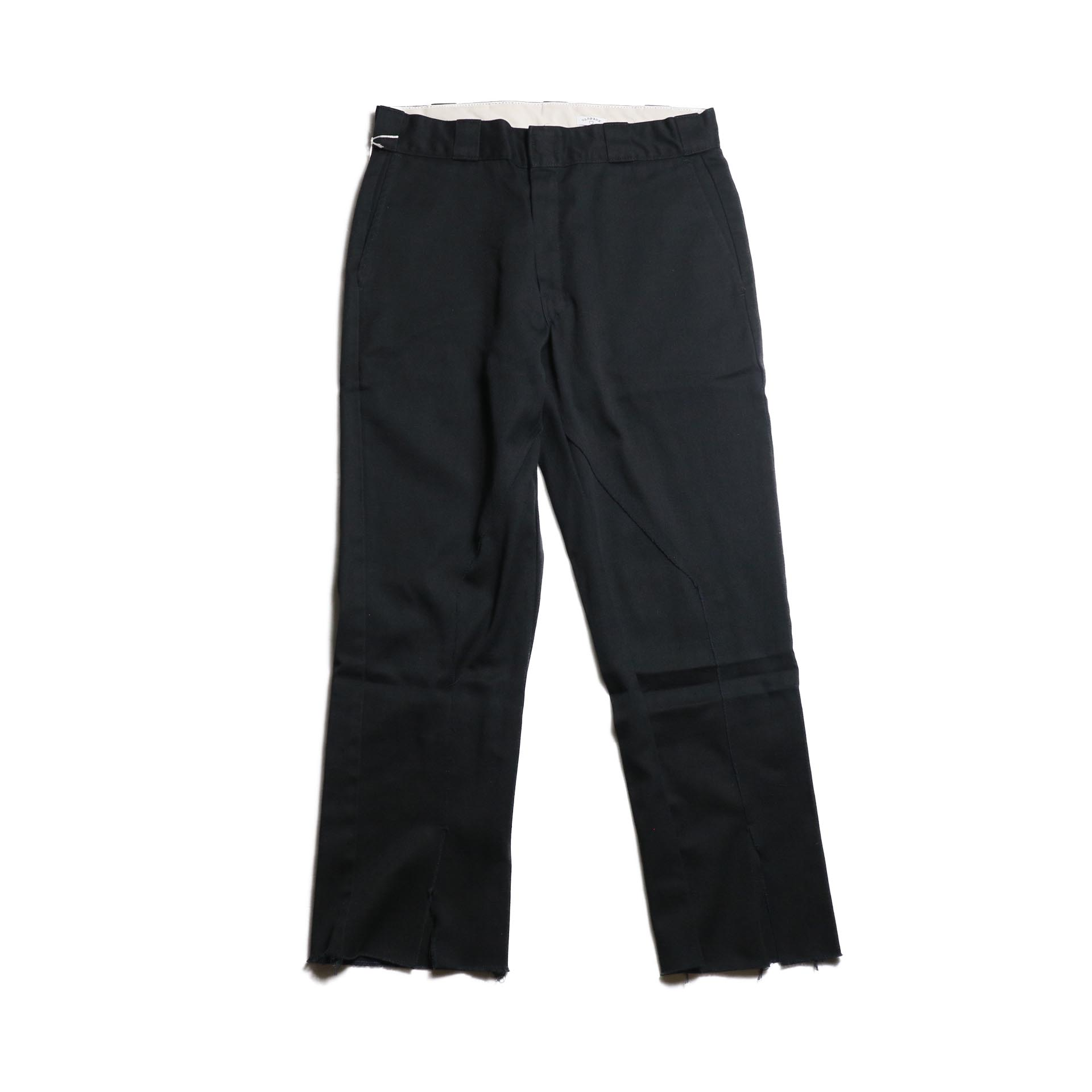 "OLD PARK / Slit Pants ""Dickies"" -Black (Msize-A)"