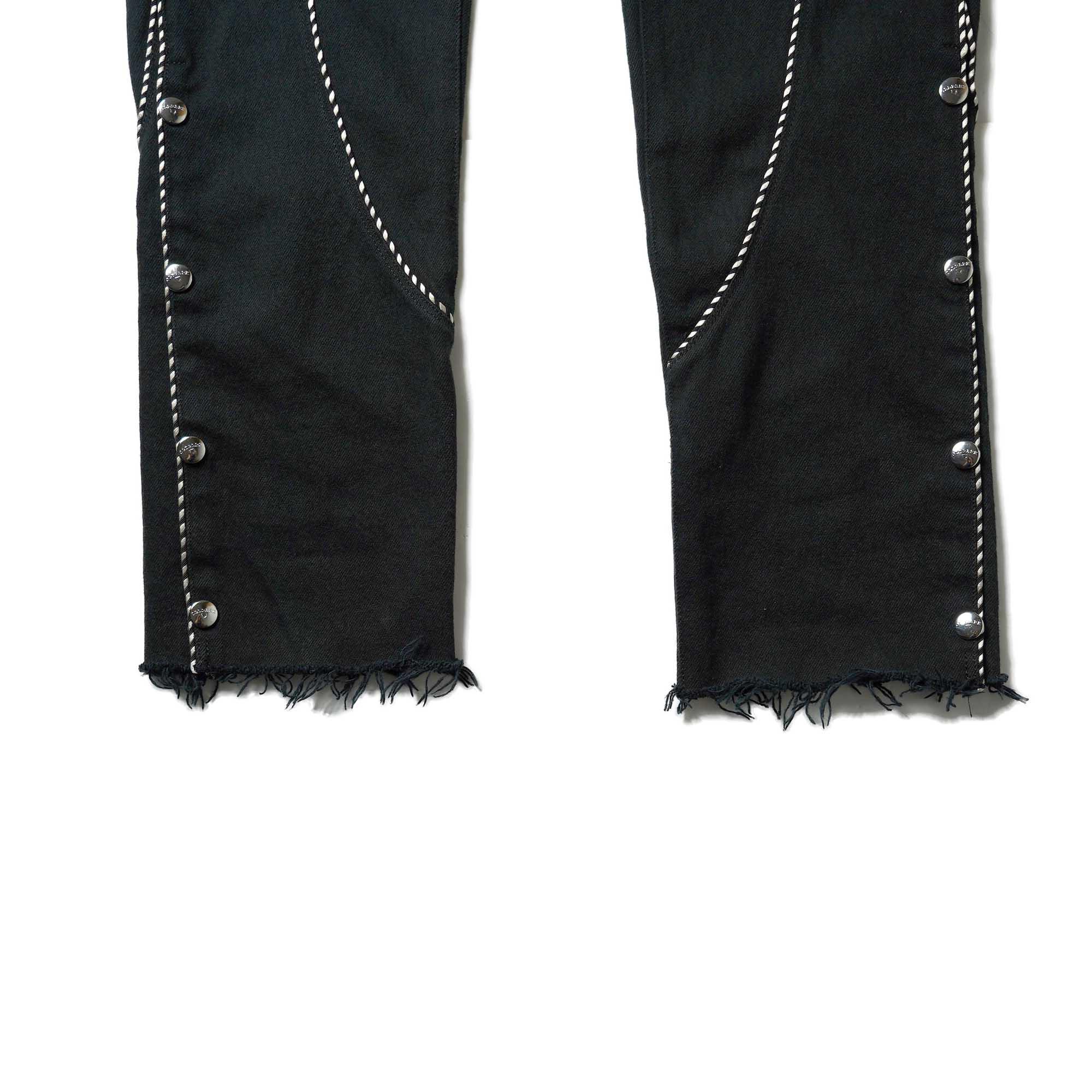 OLD PARK / Western Jeans2 Black (Lsize-A)裾