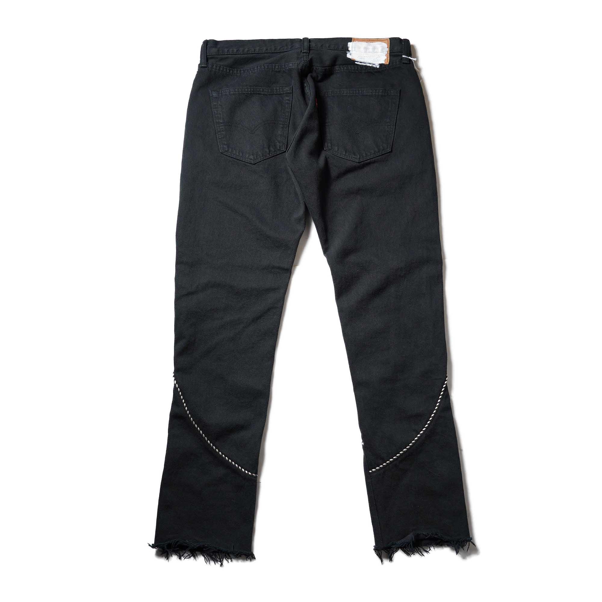 OLD PARK / Western Jeans2 Black (Lsize-B)OLD PARK / Western Jeans Black (Msize-H)背面