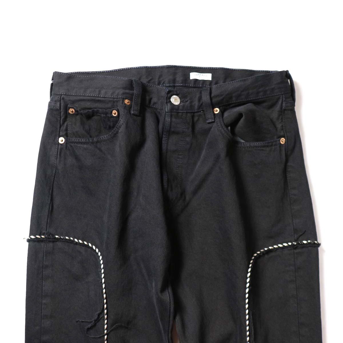 OLD PARK / Western Jeans Black (Msize-E)ウエスト