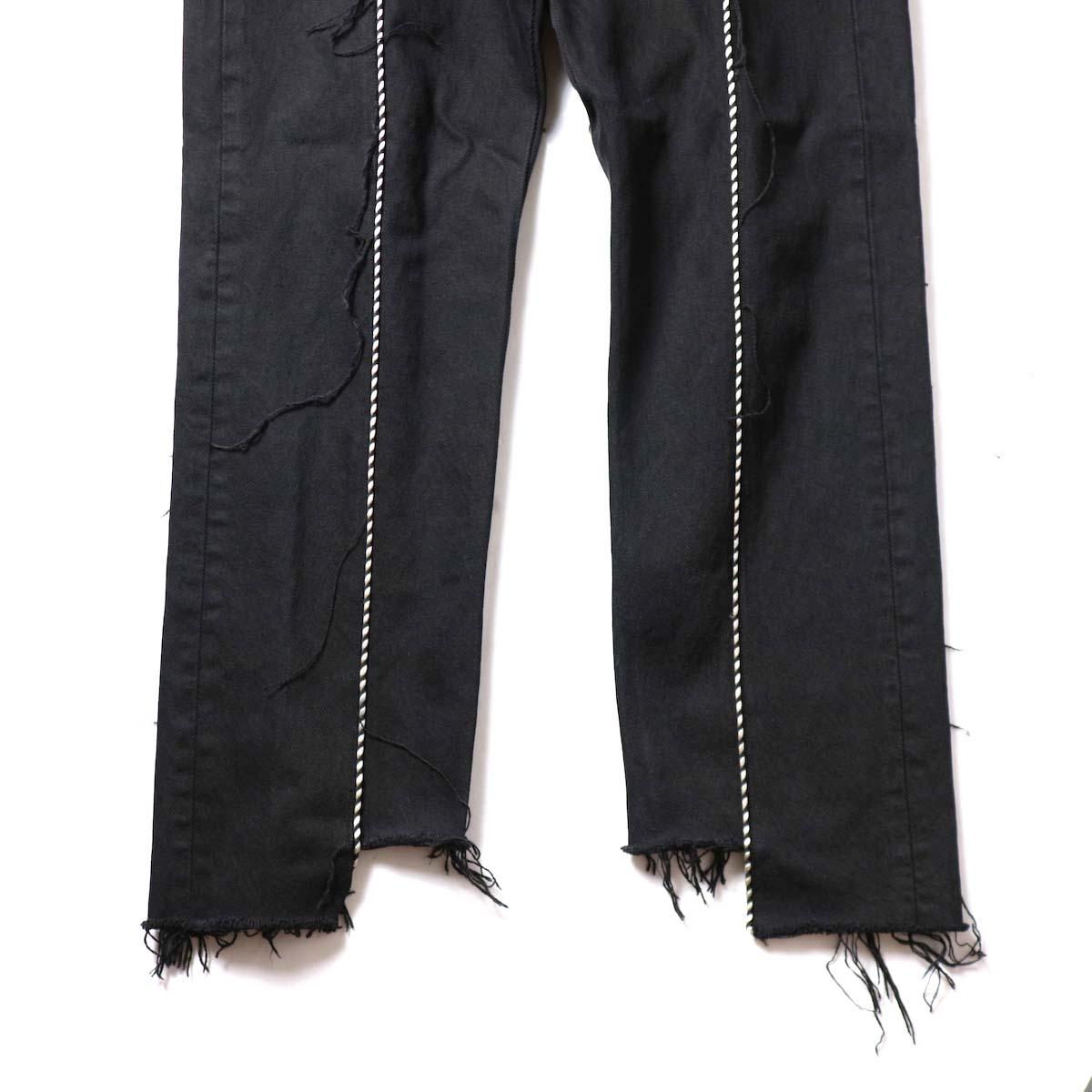 OLD PARK / Western Jeans Black (Msize-E)裾
