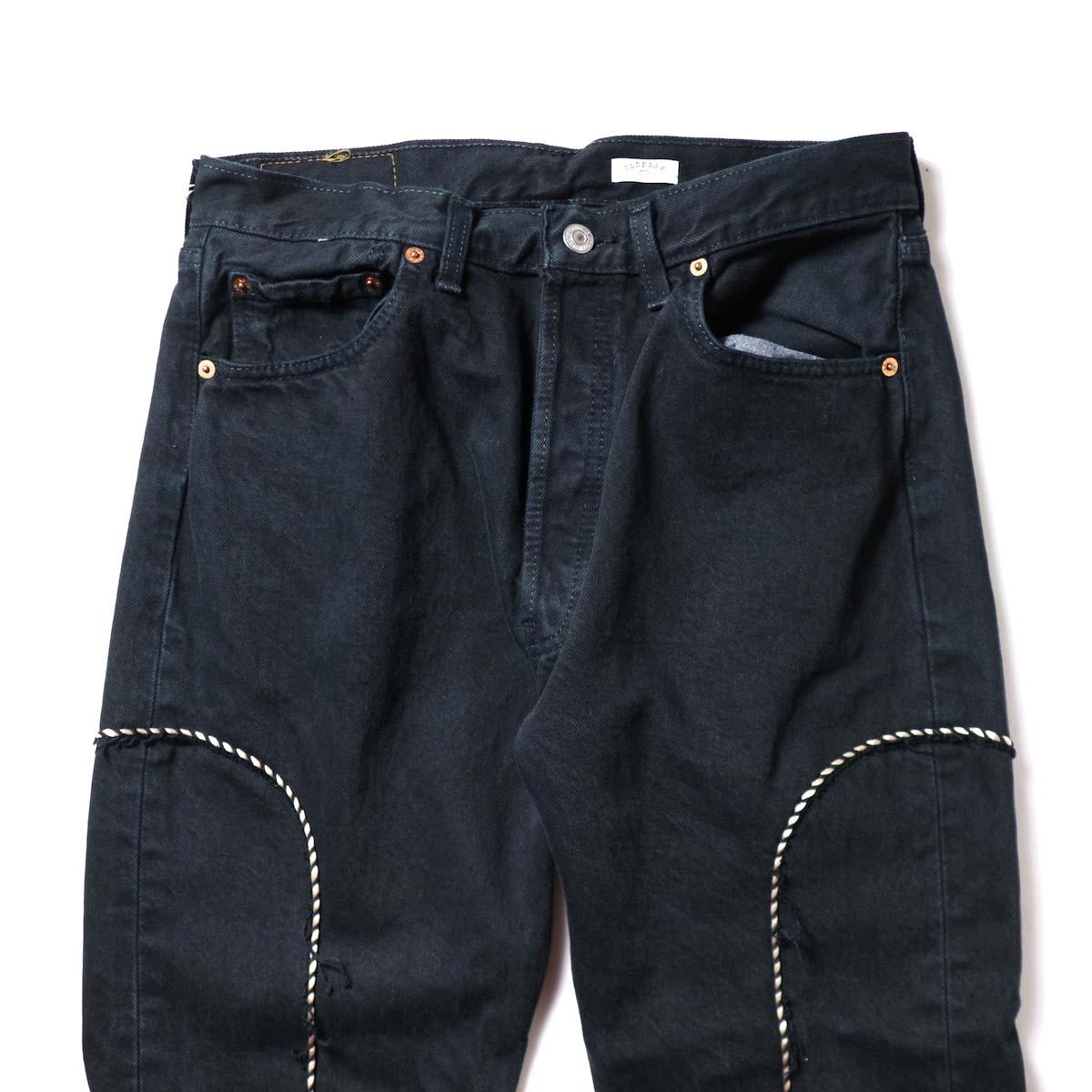 OLD PARK / Western Jeans Black (Msize-F)ウエスト