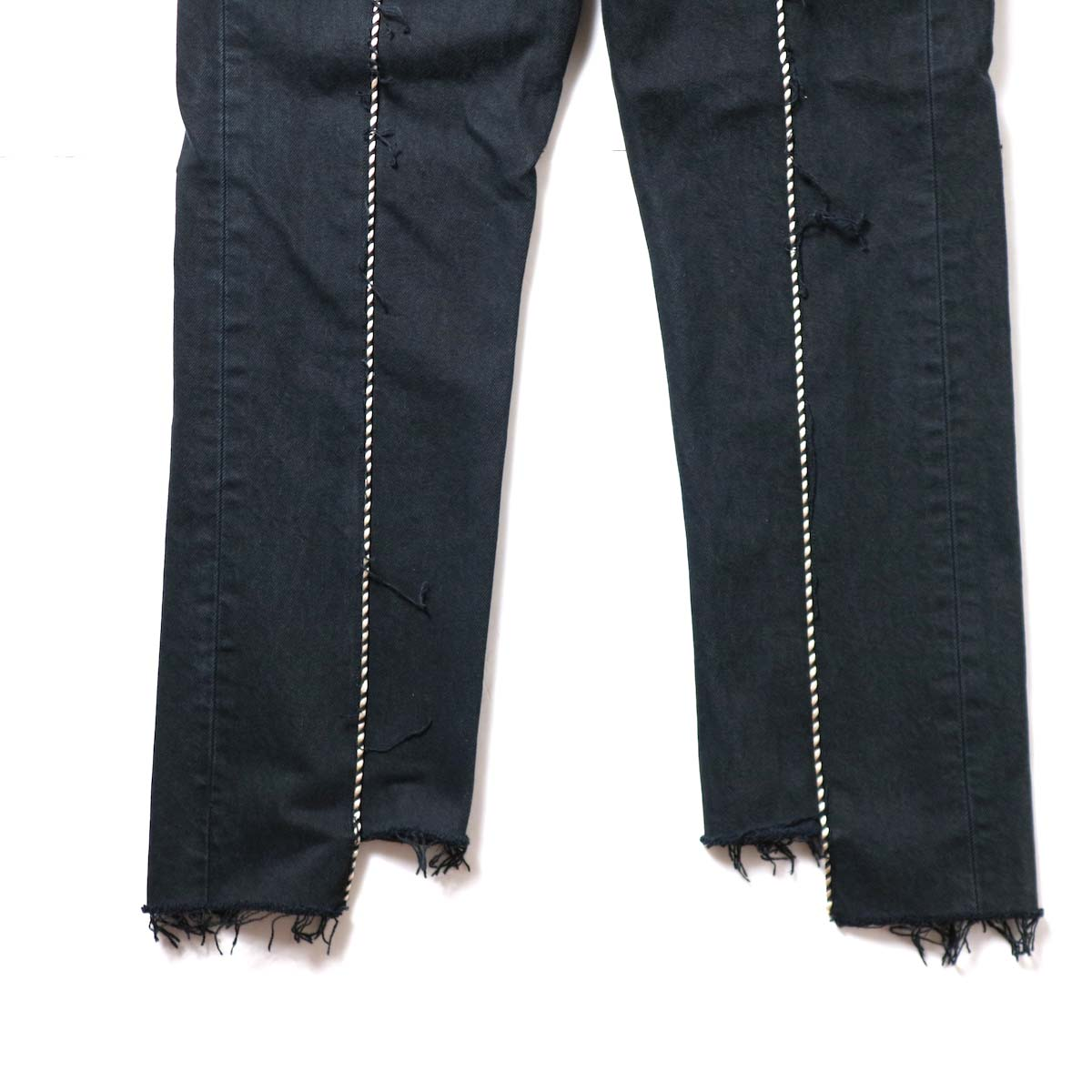 OLD PARK / Western Jeans Black (Msize-F)裾