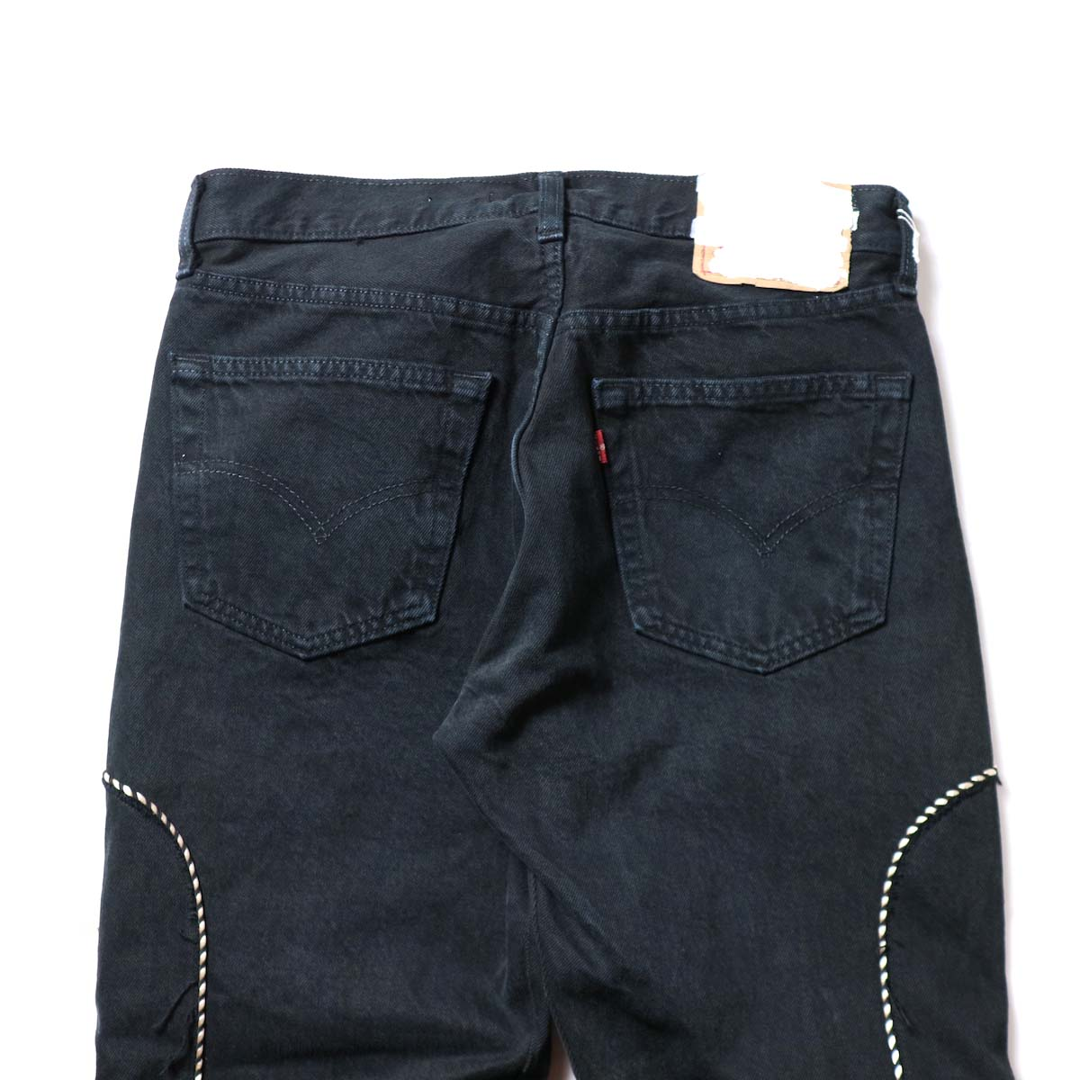 OLD PARK / Western Jeans Black (Msize-F)ヒップポケット