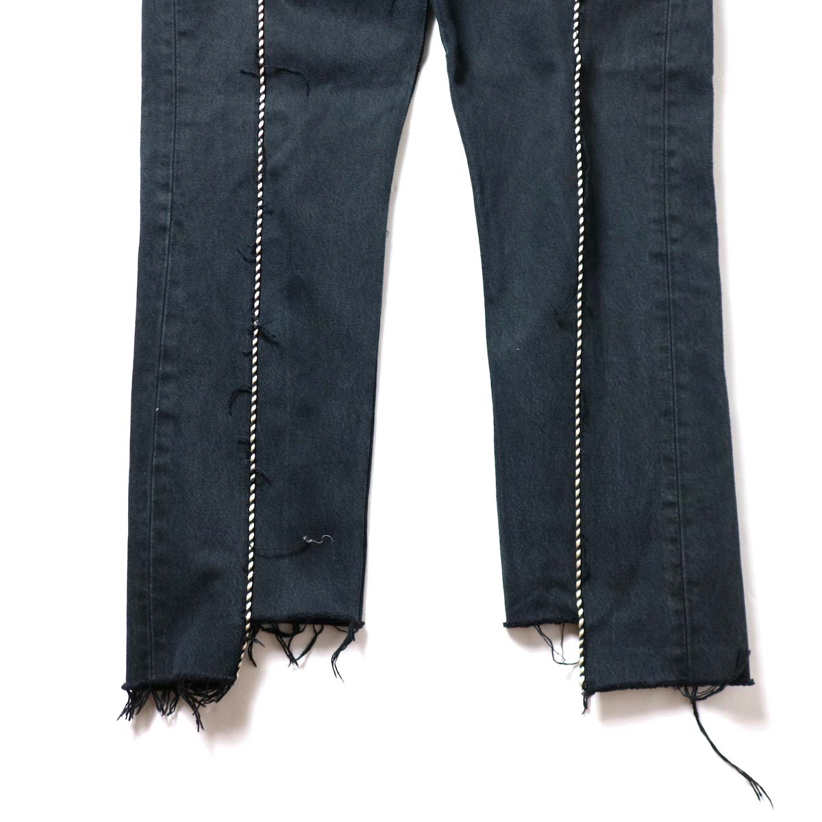 OLD PARK / Western Jeans Black (Msize-G)裾