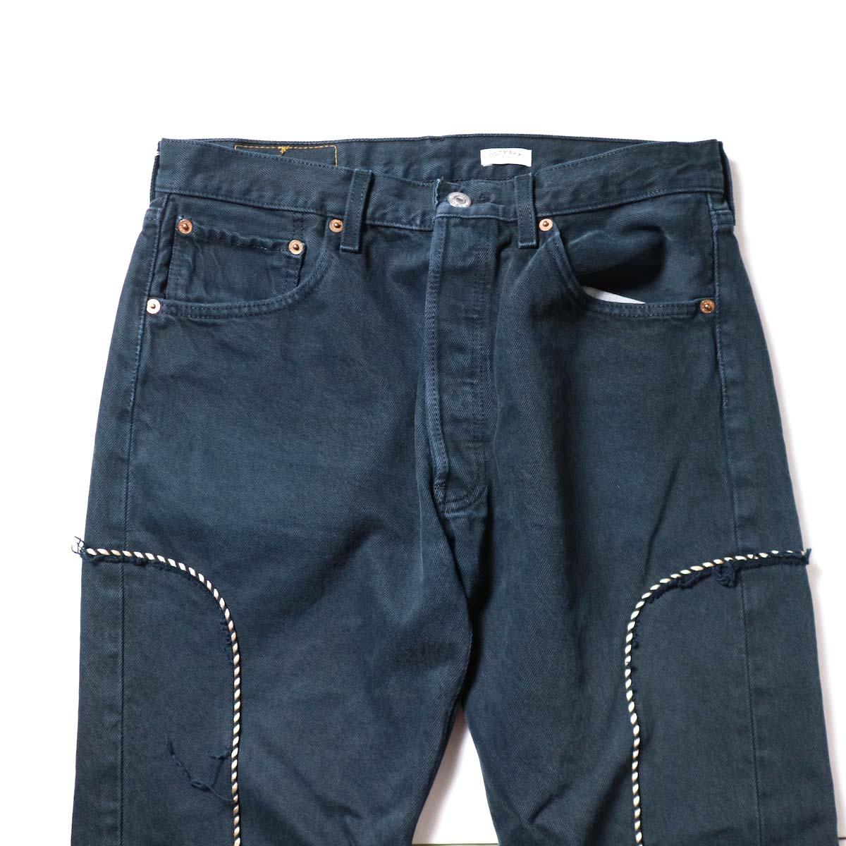OLD PARK / Western Jeans Black (Msize-H)ウエスト