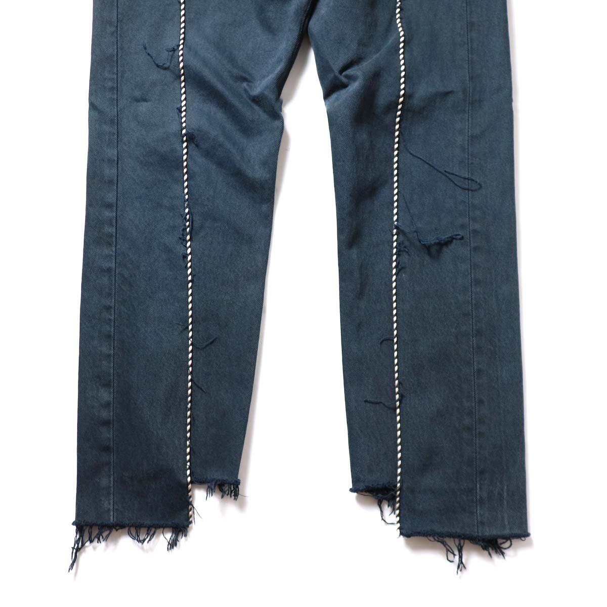 OLD PARK / Western Jeans Black (Msize-H)裾
