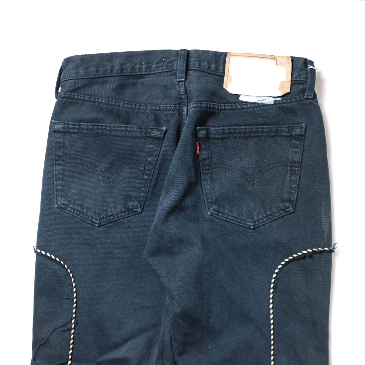 OLD PARK / Western Jeans Black (Msize-H)ヒップポケット