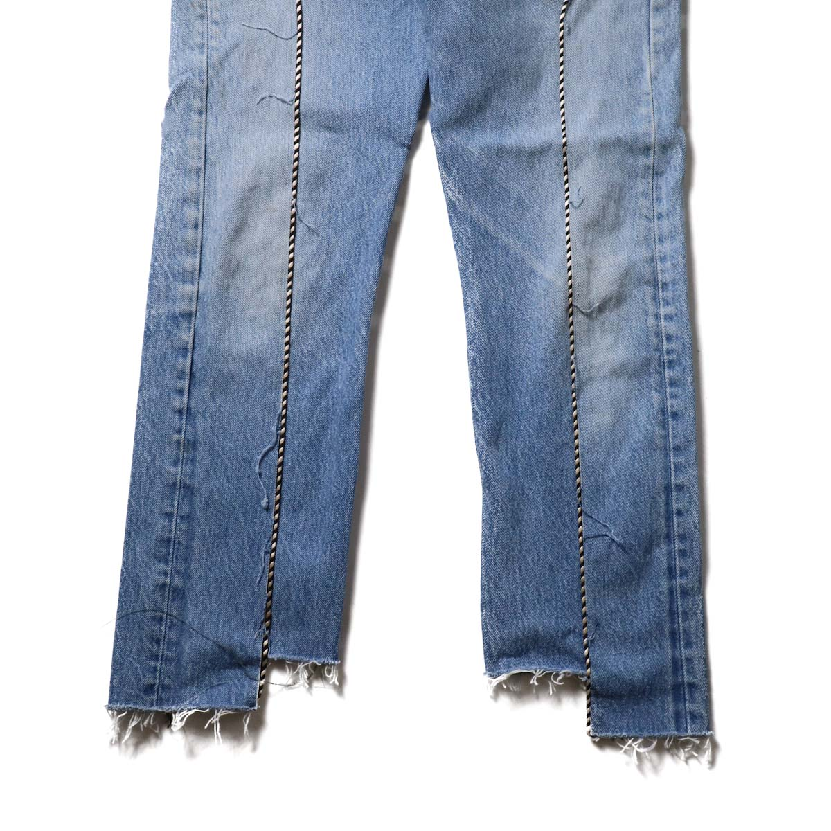 OLD PARK / Western Jeans Blue (Ssize-B)裾