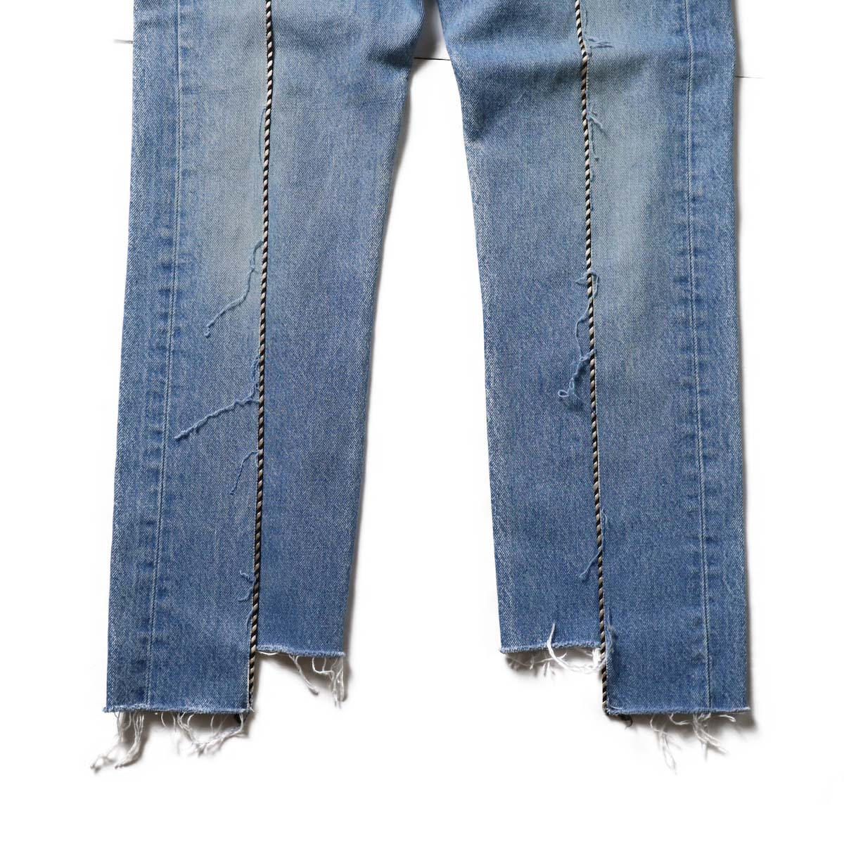 OLD PARK / Western Jeans Blue (Ssize-D)裾