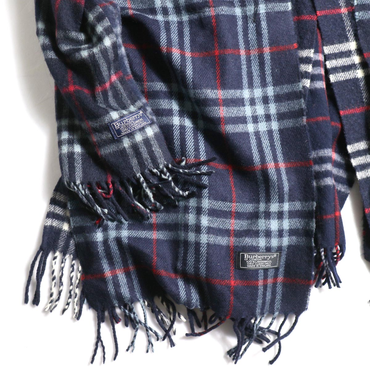 OLD PARK / Scarf Cardigan Burberry (Navy) 左裾