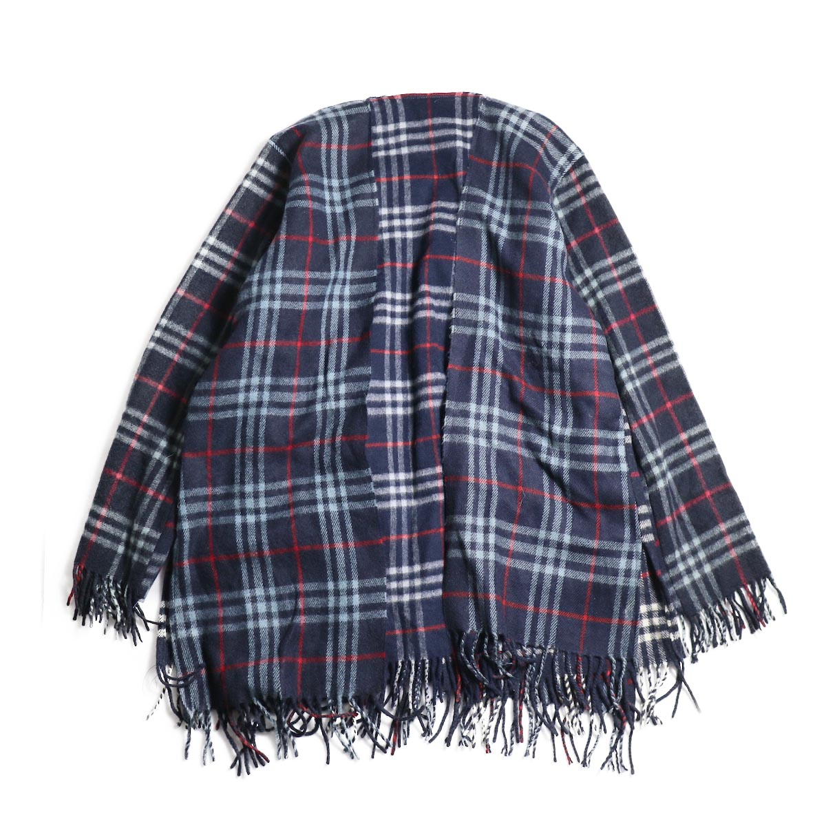 OLD PARK / Scarf Cardigan Burberry (Navy) 背面