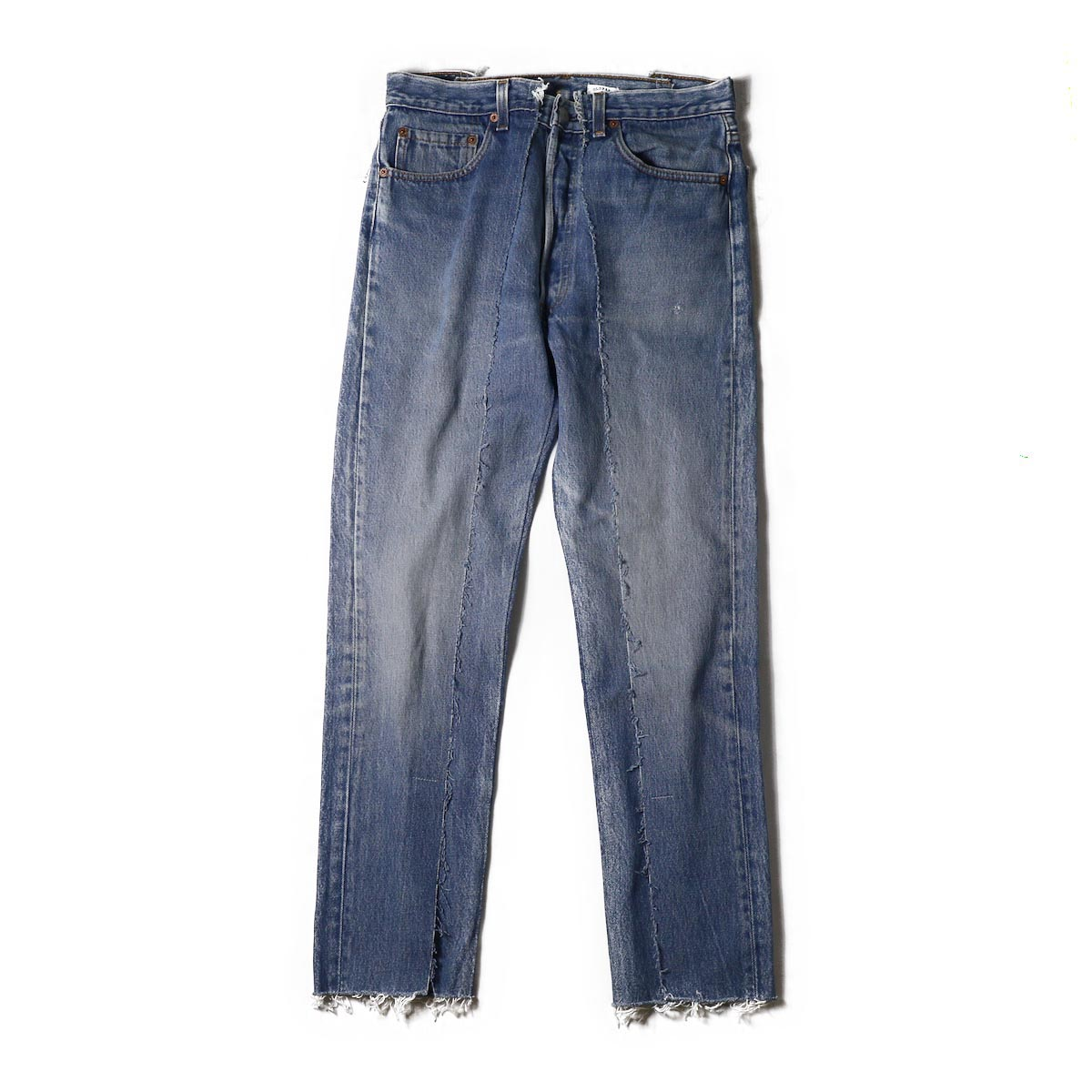 OLD PARK / SLIM FLARE JEANS BLUE Msize -a
