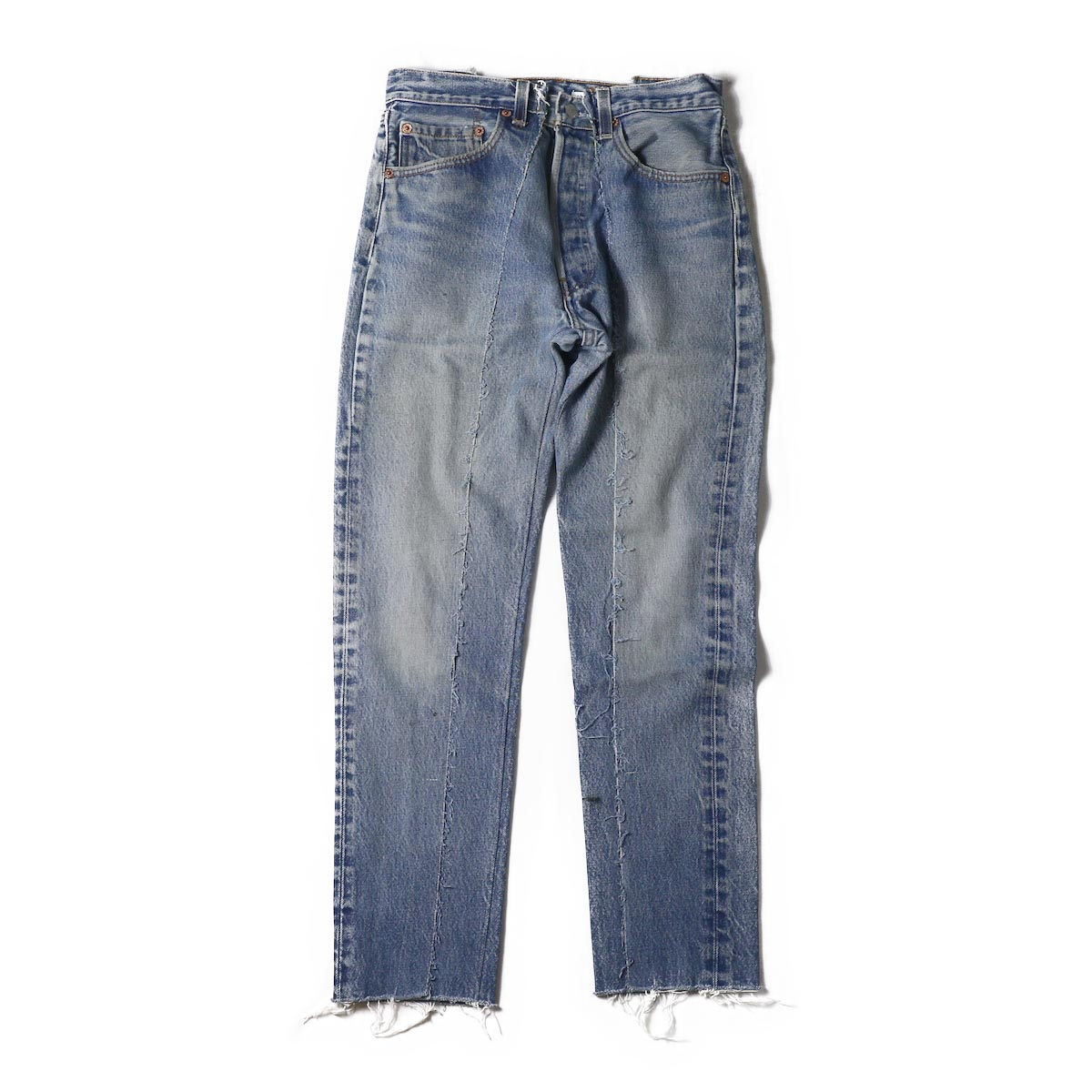 OLD PARK / SLIM FLARE JEANS BLUE Ssize -f