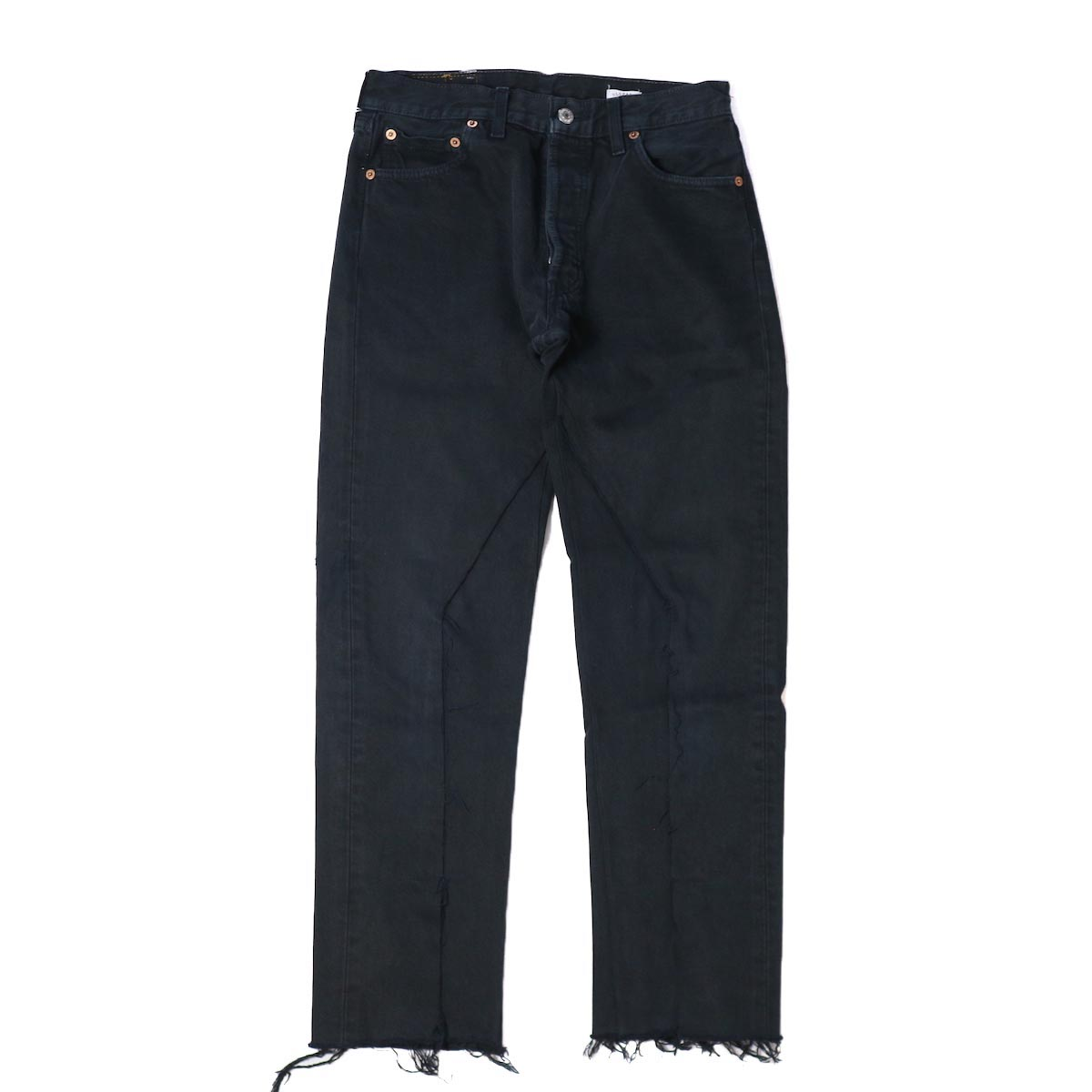 OLD PARK / SLIT JEANS BLACK Ssize -(E)