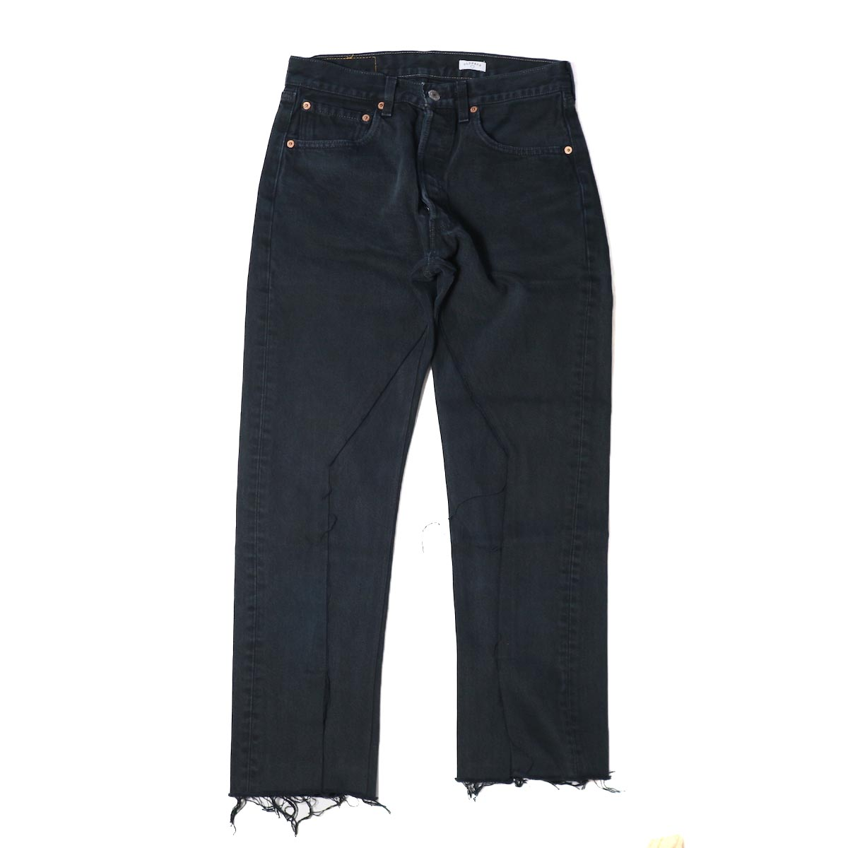 OLD PARK / SLIT JEANS BLACK Ssize -(F)