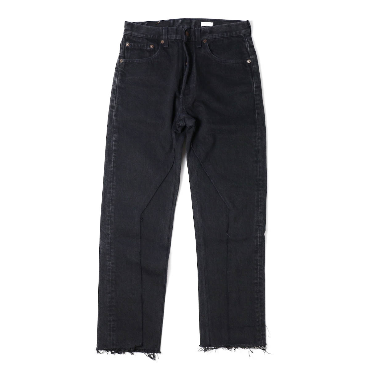 OLD PARK / SLIT JEANS BLACK Ssize -(G)