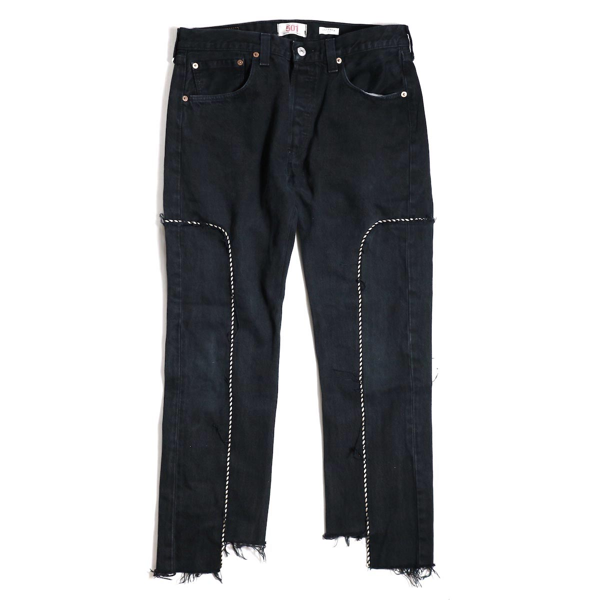 OLD PARK / WESTERN JEANS -BLACK Msize(B)