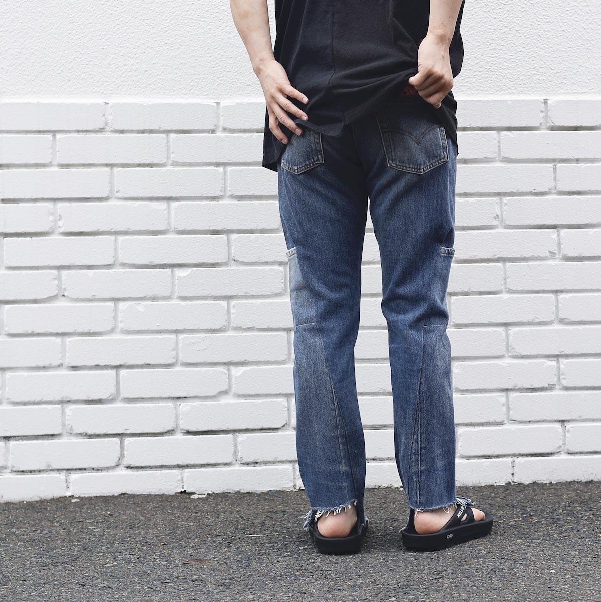 OLD PARK / 7Pocket Jeans -Blue着用例② (162cm / Ssize着用)