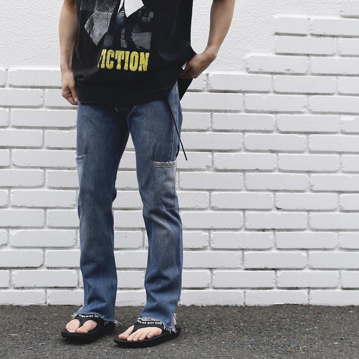 OLD PARK / 7Pocket Jeans -Blue着用例① (162cm / Ssize着用)