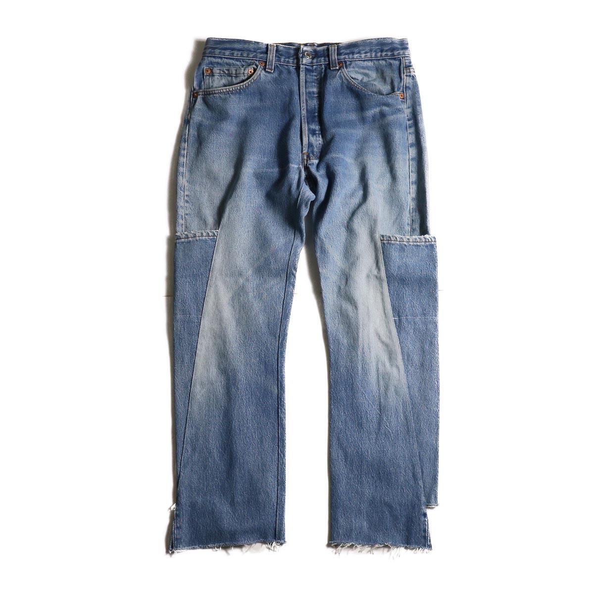 OLD PARK / 7Pocket Jeans -Blue (Msize-A)正面