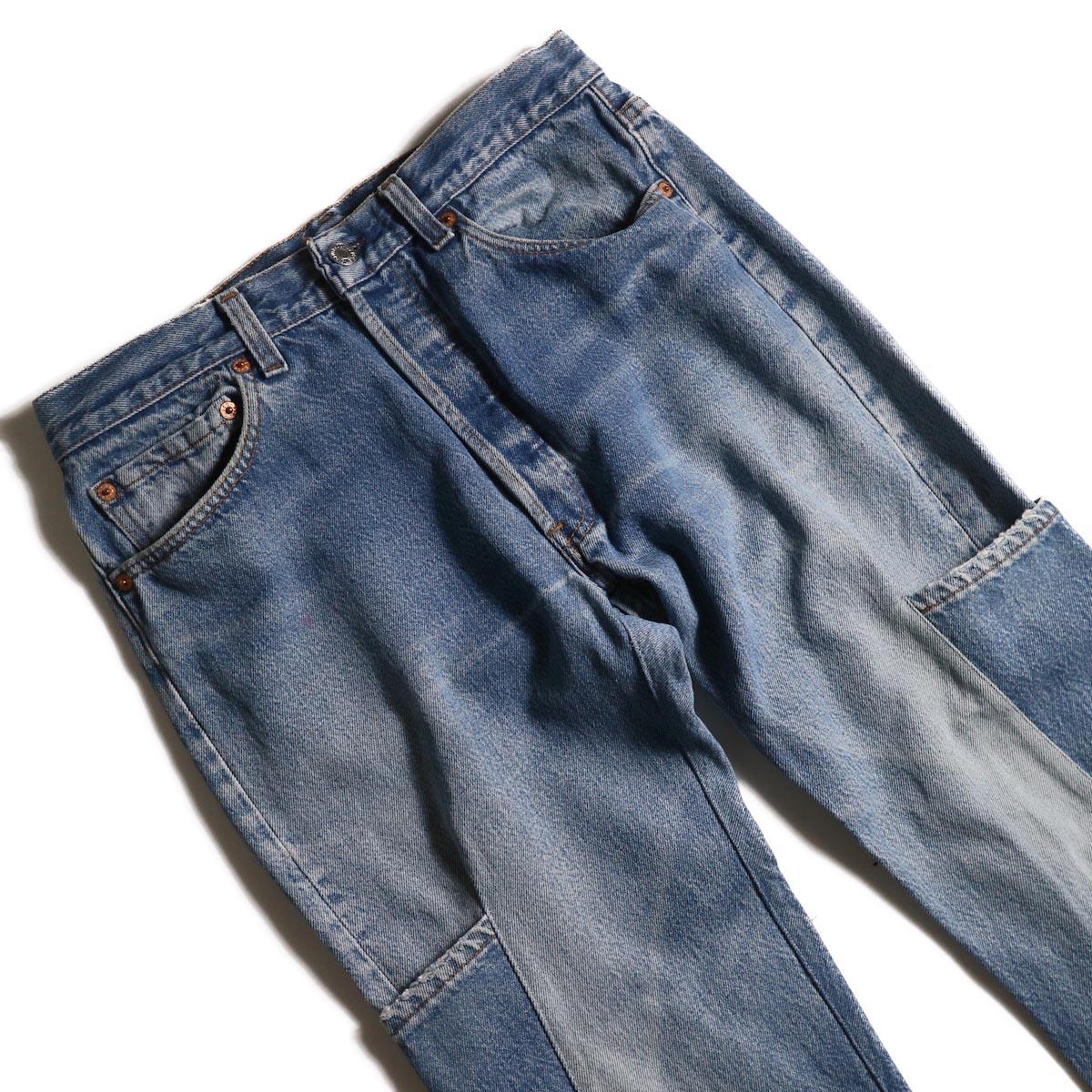 OLD PARK / 7Pocket Jeans -Blue (Msize-A)ウエスト
