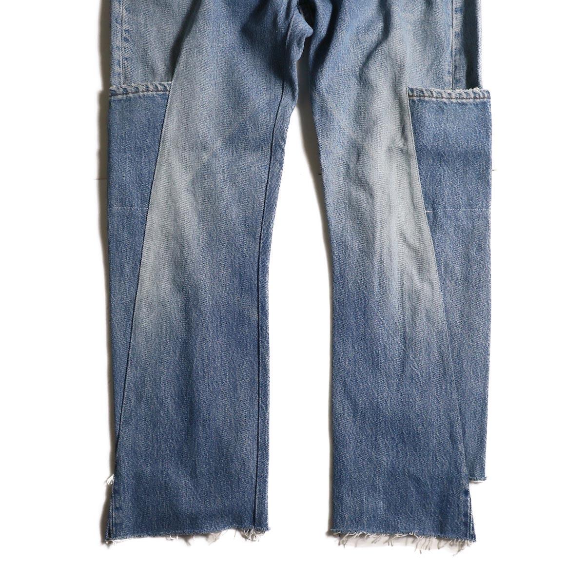 OLD PARK / 7Pocket Jeans -Blue (Msize-A)ポケット、裾