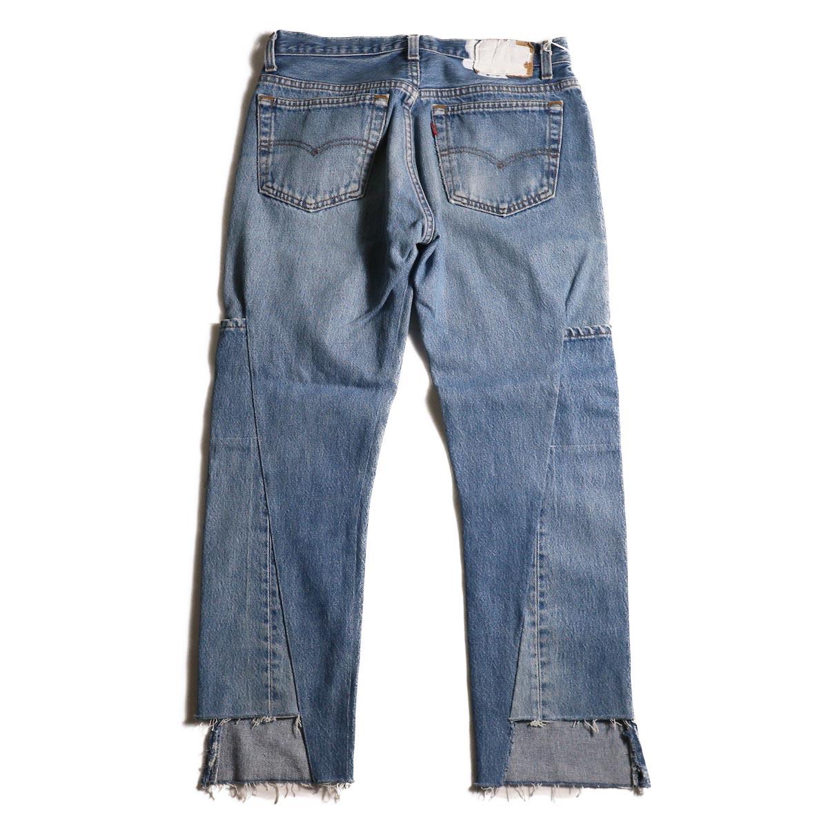 OLD PARK / 7Pocket Jeans -Blue (Msize-A)背面