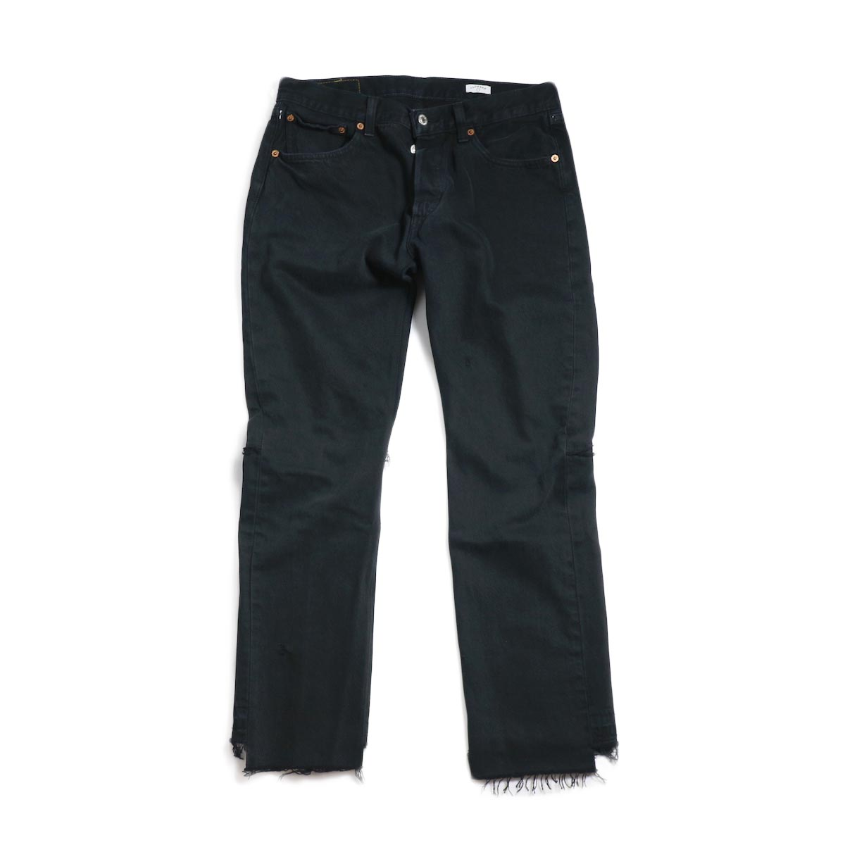 OLD PARK / Back Flare Jeans -Black Msize (B)