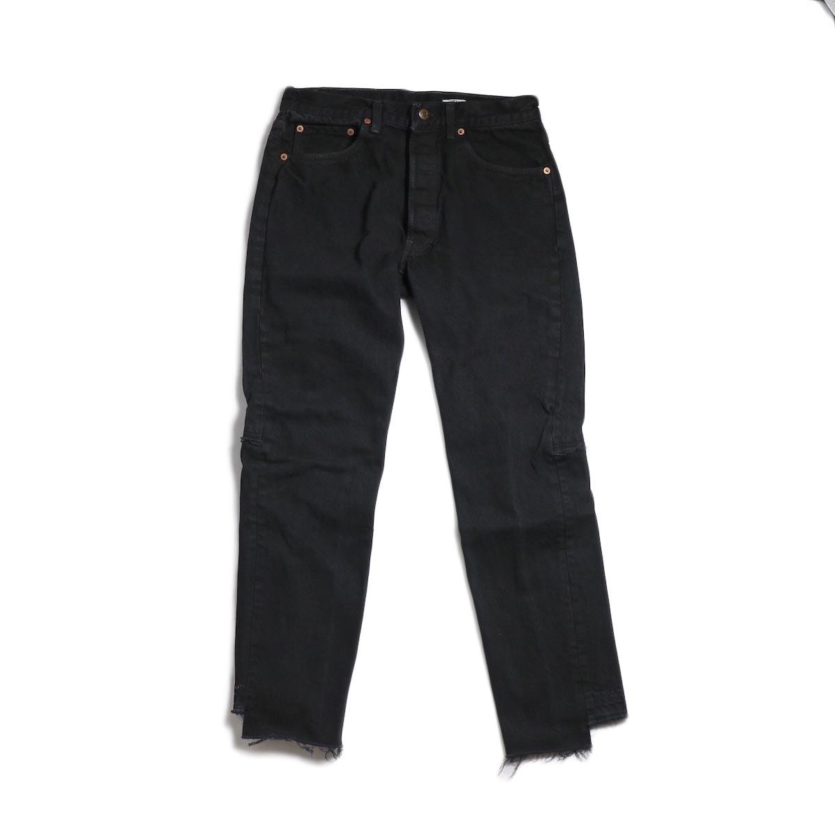 OLD PARK / Back Flare Jeans -Black Msize (C)