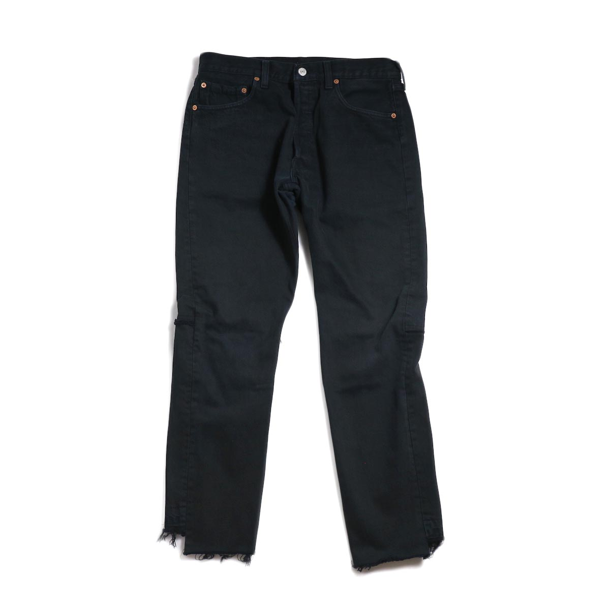 OLD PARK / Back Flare Jeans -Black Msize (E)