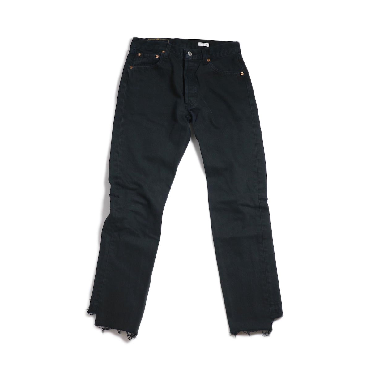 OLD PARK / Back Flare Jeans -Black Ssize (F) 正面