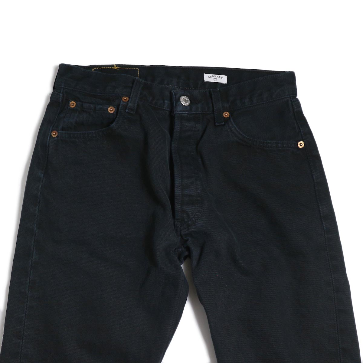 OLD PARK / Back Flare Jeans -Black Ssize (F) ウエスト