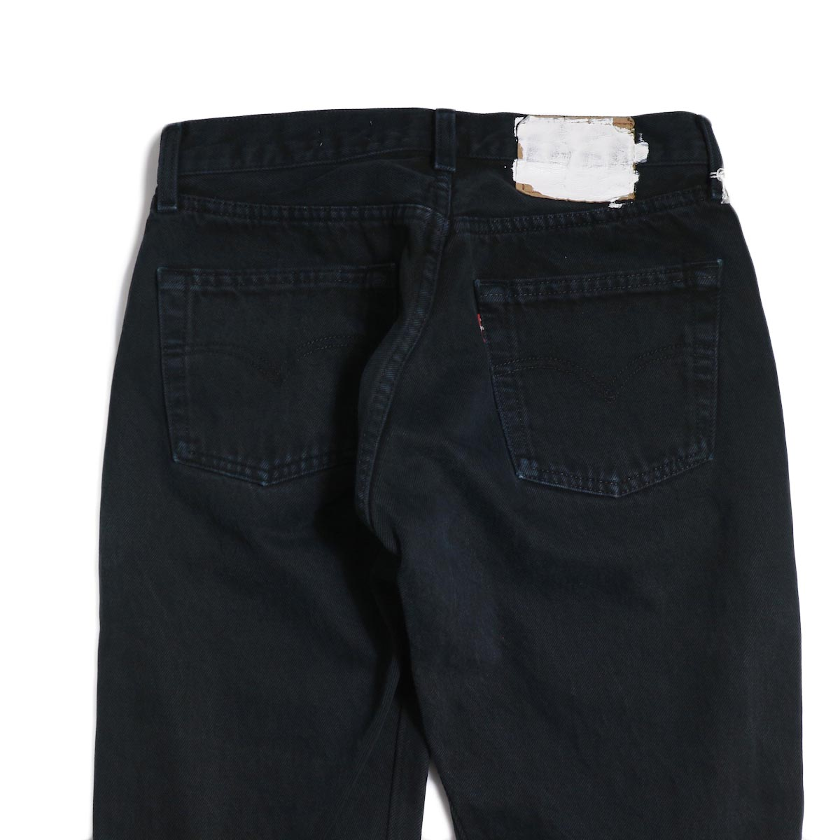 OLD PARK / Back Flare Jeans -Black Ssize (F) バックポケット