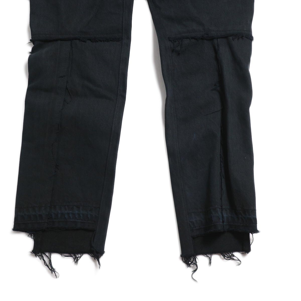 OLD PARK / Back Flare Jeans -Black Ssize (F) 裾背面
