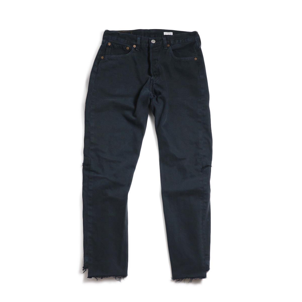 OLD PARK / Back Flare Jeans -Black Ssize (G)
