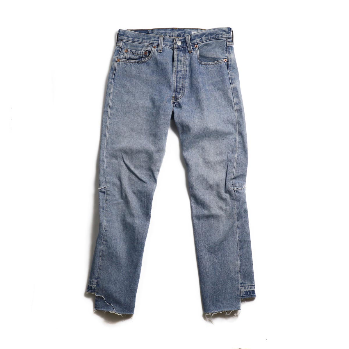 OLD PARK / Back Flare Jeans -Blue Msize (A)